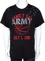 Thumbnail for your product : Amiri Black Cotton Vintage Army Print Round Neck T Shirt M