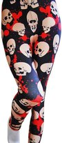 SlickBlue Womens Robot Armor Digital Printed Ankle Leggings