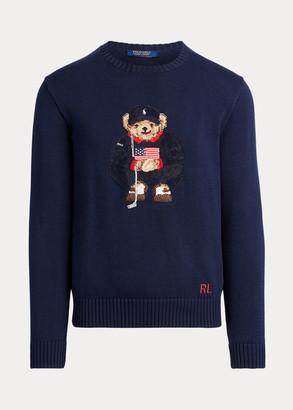 Ralph Lauren Golf Bear Cotton-Blend Sweater