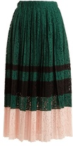 No.21 NO. 21 Pleated lace midi skirt