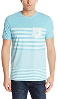 U.S. Polo Assn. Men's Engineered Stripe Crew Neck Pocket T-Shirt