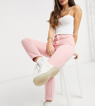 Reclaimed Vintage inspired the '91 mom jean in baby pink cord