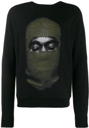 Ih Nom Uh Nit balaclava print sweater