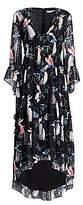 Borgo de Nor Women's Iris Printed High-Low Dress