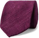 Drakes Drake's - 8cm Woven Slub Silk Tie