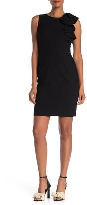 Calvin Klein Side Ruffle Sheath Dress