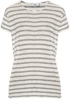 Vince Striped linen-jersey T-shirt