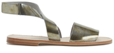 Prism Women's Naxos Ankle Strap Leather Sandals Rust Metal
