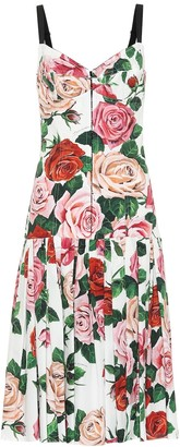 Dolce & Gabbana Printed cotton-blend midi dress