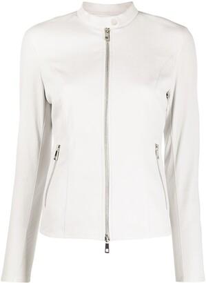 Desa 1972 Leather Short Jacket