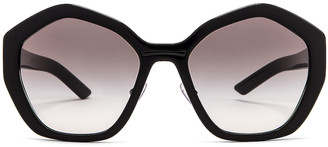 Prada Geometric Sunglasses in Black | FWRD