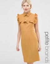 Alter Petite Pencil Dress With Frill Bib
