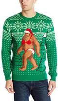 Alex Stevens Men's Bikini Sasquatch Ugly Christmas Sweater