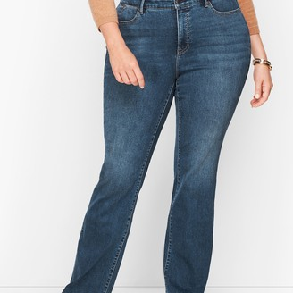 Talbots Plus Size Barely Boot Jeans - Curvy Fit - Lexington Wash