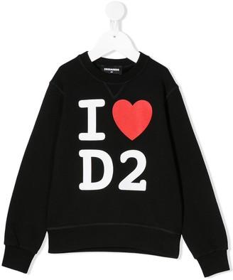 DSQUARED2 I love D2 printed sweatshirt