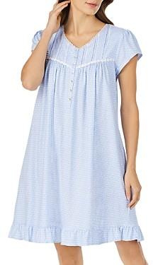Eileen West Geo Print Jersey Nightgown