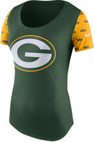 Nike Women's Green Bay Packers First String Tri Scoop T-Shirt