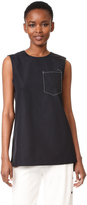 DKNY Sleeveless Shirt with Pocket