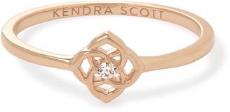 Kendra Scott Fleur 14k Band Ring In White Diamond