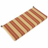 "Kingsley Indoor/Outdoor Bench Cushion Blazing Needles Size: 3.5"" H x 51"" W x 19"" D"