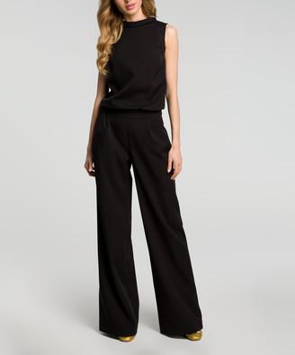 Made Of Emotion Women's Jumpsuits black - Black Mock Neck Jumpsuit - Women