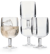 Martha Stewart Collection 4-Pc. Stackable Acrylic Wine Glass Set