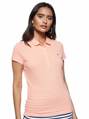 Tommy Hilfiger Women's Short Sleeve Slim Polo Shirt