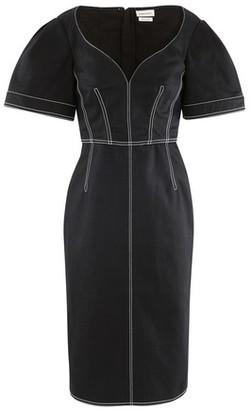 Alexander McQueen Midi dress in cotton