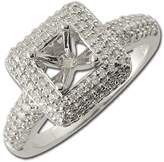 TriJewels Diamond Semi Mount Ring (SI1-SI2-Clarity, -Color) 0.70 ct tw in 18K White Gold.size 7.5