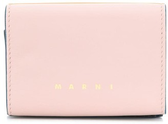 Marni Logo Print Colourblock Wallet