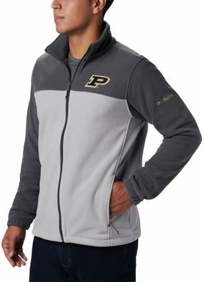 Men's Columbia Charcoal/Gray Purdue Boilermakers Big & Tall Flanker III Fleece Full-Zip Jacket