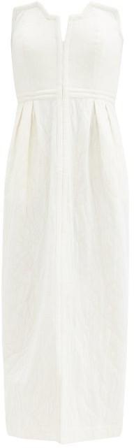 Mara Hoffman Aurelia Strapless Organic Cotton-blend Dress - Ivory
