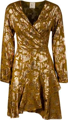L'Autre Chose Metallic Detail Back Bow Dress