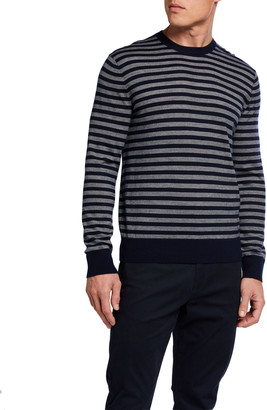 Vince Men's Striped Crewneck Pullover Sweater