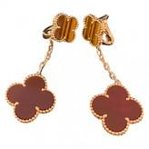Van Cleef & Arpels Magic Alhambra Red Yellow gold Earrings