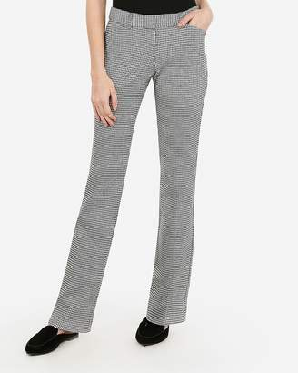 Express Low Rise Houndstooth Barely Boot Editor Pant