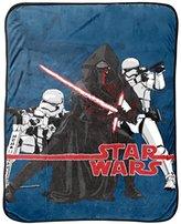 Star Wars Ep7 Live Action Blue Fleece Throw