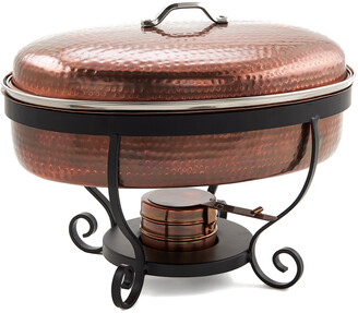 Old Dutch Hammered Antique Copper Chafing Dish