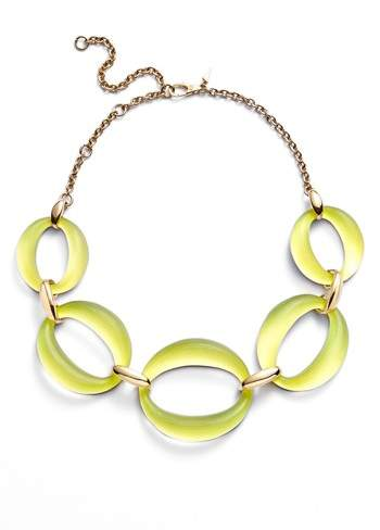 Alexis Bittar Large Lucite(R) Link Frontal Necklace