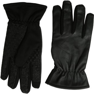GII Men's Fine Leather and Softshell Touchscreen Gloves