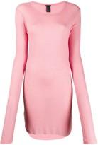 Ann Demeulemeester long-line jersey top