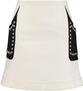 Giambattista Valli Studded cotton-blend crepe mini skirt