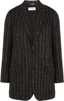 Saint Laurent Checked wool-blend tweed blazer