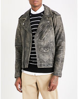Polo Ralph Lauren Faded leather biker jacket