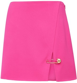 Versace Stretch Cady Mini Skirt