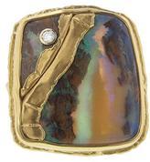 Jamie Joseph Australian Boulder Opal Joinery Ring