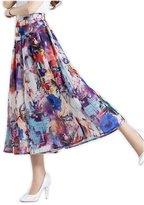 Herose Women's Wide Solid Color Waistband Light Weight Capris XL