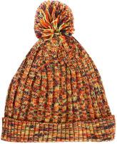 Asos Multi Colored Rib Bobble Beanie