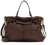 Patricia Nash Vintage Washed Leather Barbery Satchel