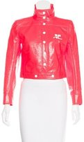 Courreges Cropped Faux Leather Jacket